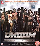 DHOOM TRILOGY BLU RAY PACK WITH FREE SONG BLU RAY PACK (DHOOM + DHOOM 2 + DHOOM 3 BLU RAY)