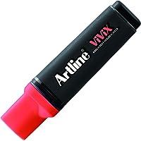 Artline Vivix Parlak Mürekkepli Fosforlu Kalem Kesik Uç:2,0-5,0 Mm, F.Kırmızı