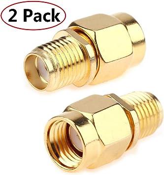 SMA macho a RP-SMA hembra Plug RF coaxial adaptador conector