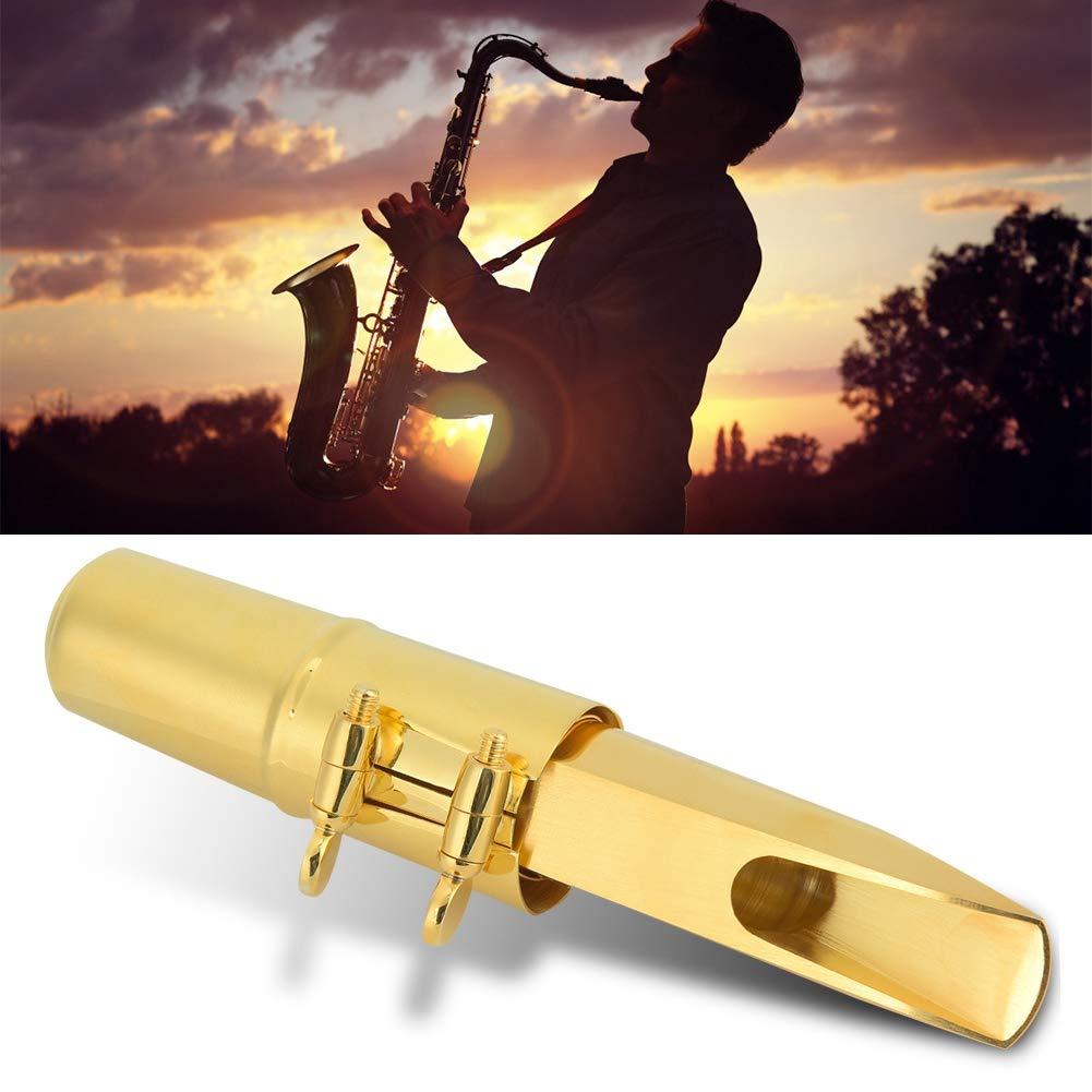 Gold Copper Alto Saxophone Ligature Mouthpiece Caps E-Flat 7# Square Type