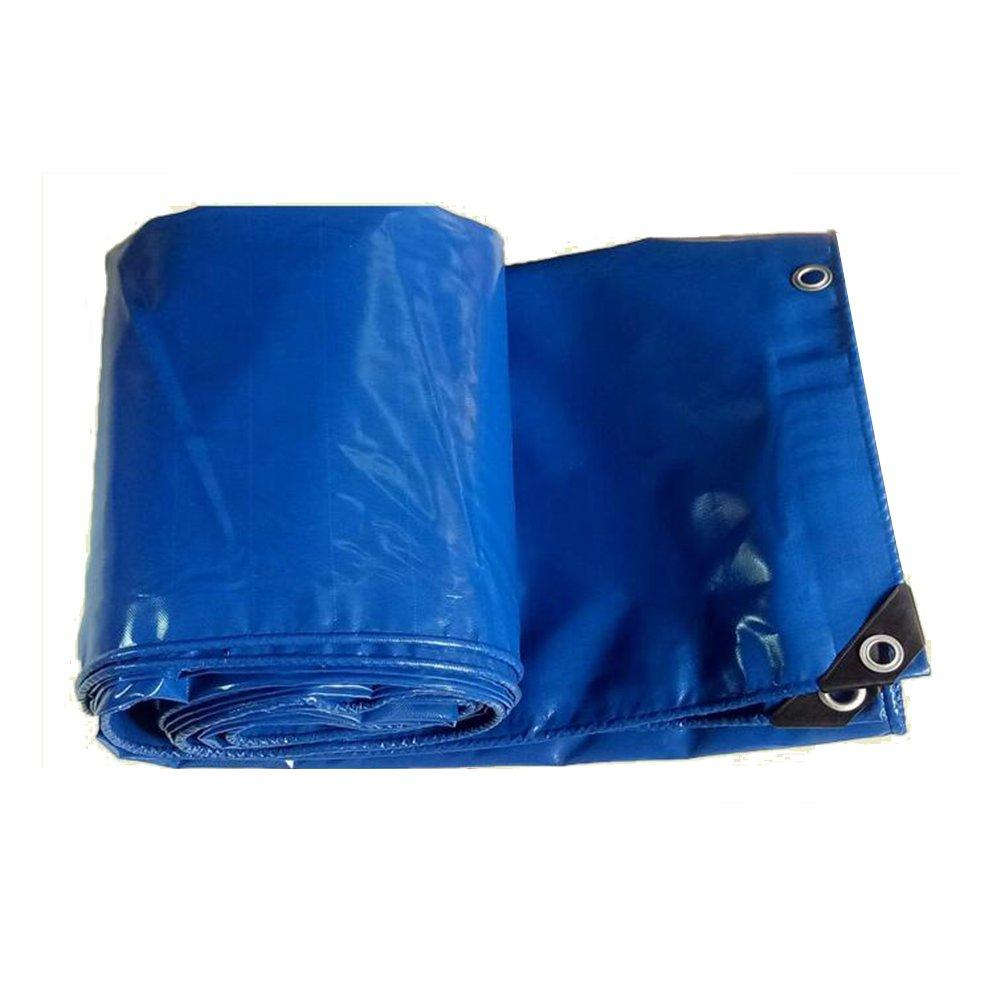CAOYU Wasserdichte Plane der Tarpaulin-Campingmattefracht-Sonnenschutzisolierung Haltbar, Hochtemperaturanti-Altern, Blau