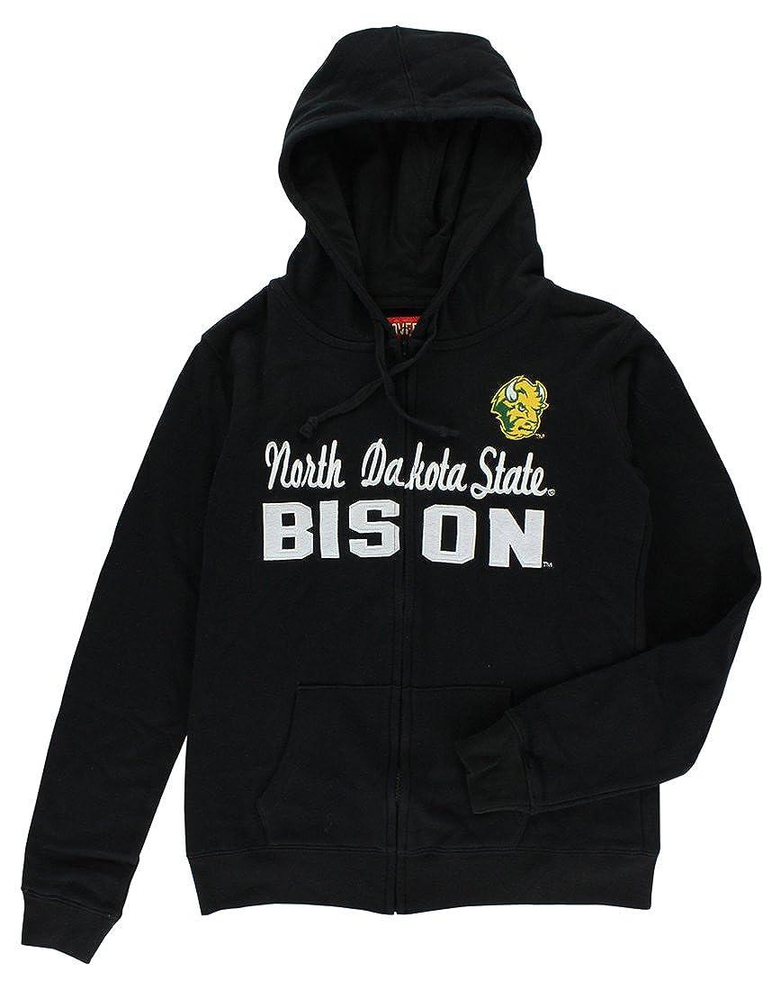 Cover One Womens North Dakota State Bison Full Zip Hoodie Black