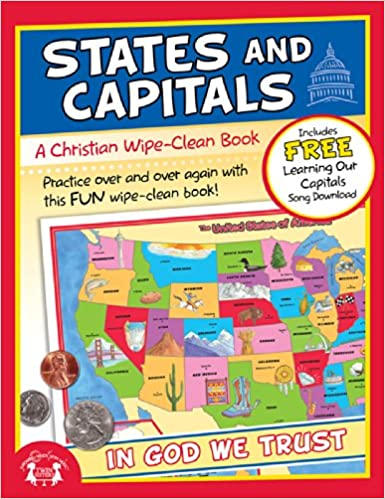 States and Capitals Christian Wipe-Clean Workbook (Let's Do It ...