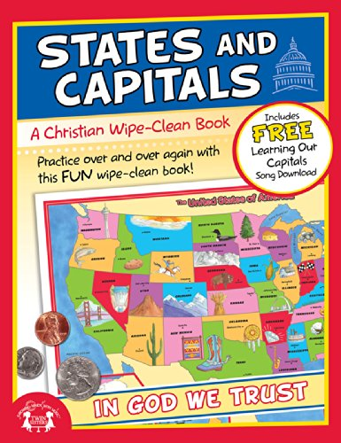 States and Capitals Christian Wipe-Clean Workbook (Let's Do It Again! Workbooks)
