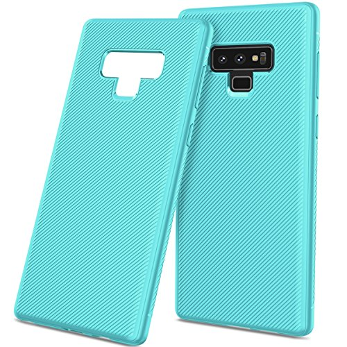 A920 Cell Phone Accessory - AICEDA Slim Fit Accessories Samsung Galaxy Note 9 Case Shock Absorption Cellphone Case Defender Drop Protection Cover Bumper Case Samsung Galaxy Note 9 - Light Blue