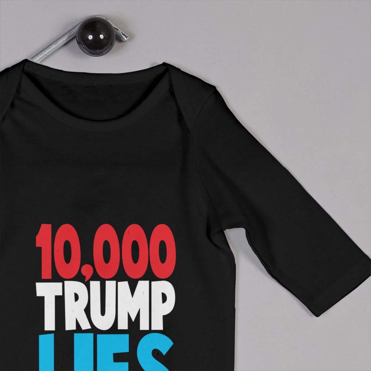 Gsaa Trump Baby Long Sleeve Bodysuit Cotton Romper