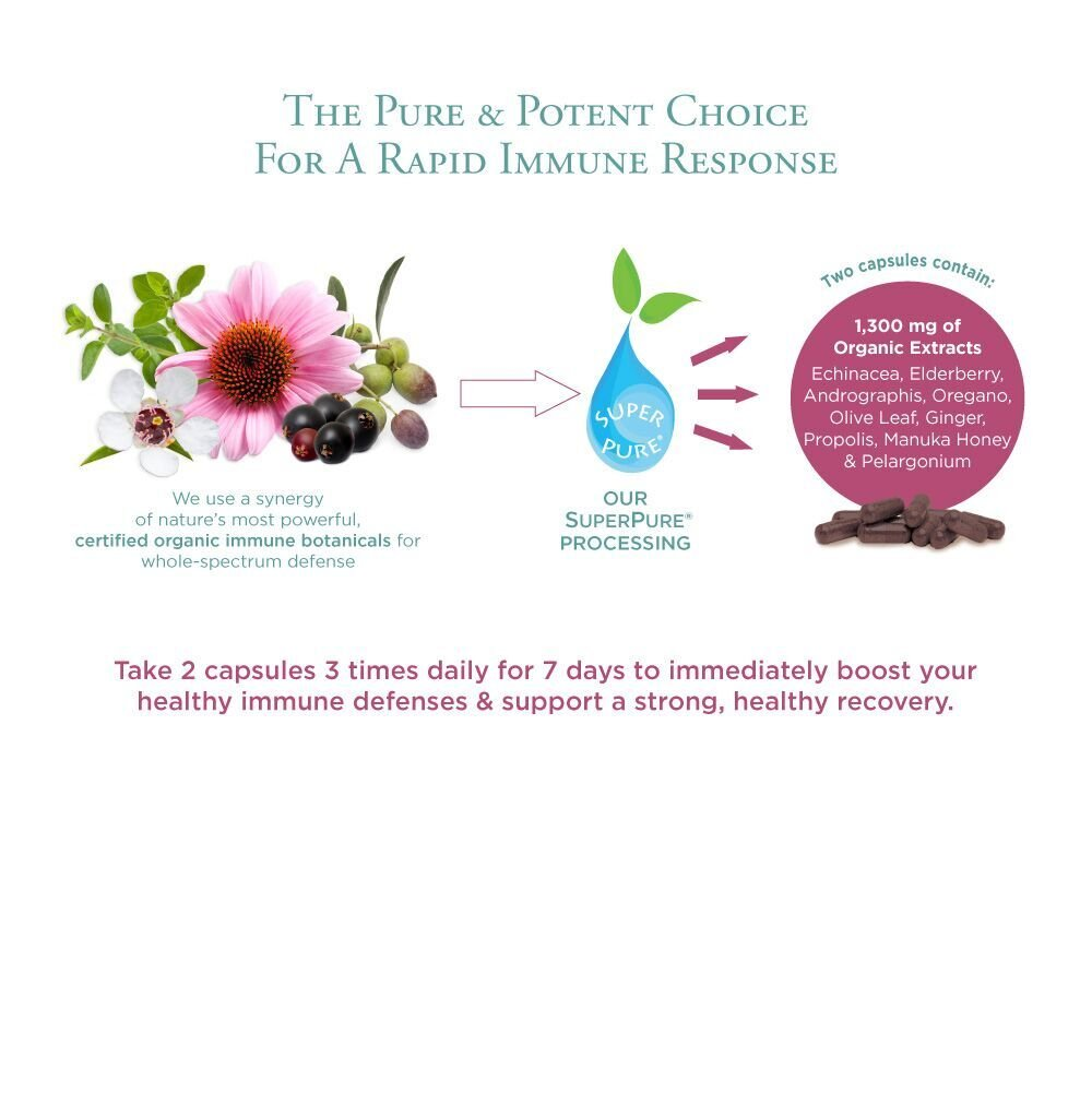 Pure Synergy Rapid Rescue (42 Capsules) w/Organic Echinacea & Elderberry Extracts by Pure Synergy (Image #3)