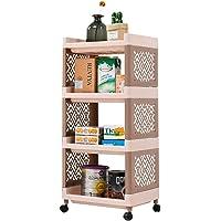 Arkmiido 4-Tier Rolling Cart Bathroom Shelf