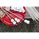 """Out Walkabout Bamboo BBQ Skewers/Marshmallow S'mores Roasting Sticks. 24"""" X 1/4 100 Pack. All Natural, Extra Long for S'mores and Kebabs"""