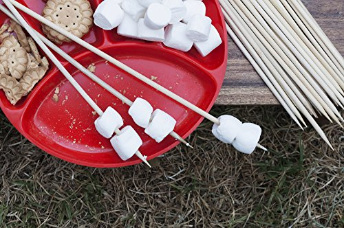 Smores Box - Out Walkabout Bamboo BBQ Skewers/Marshmallow S'mores Roasting Sticks. 24