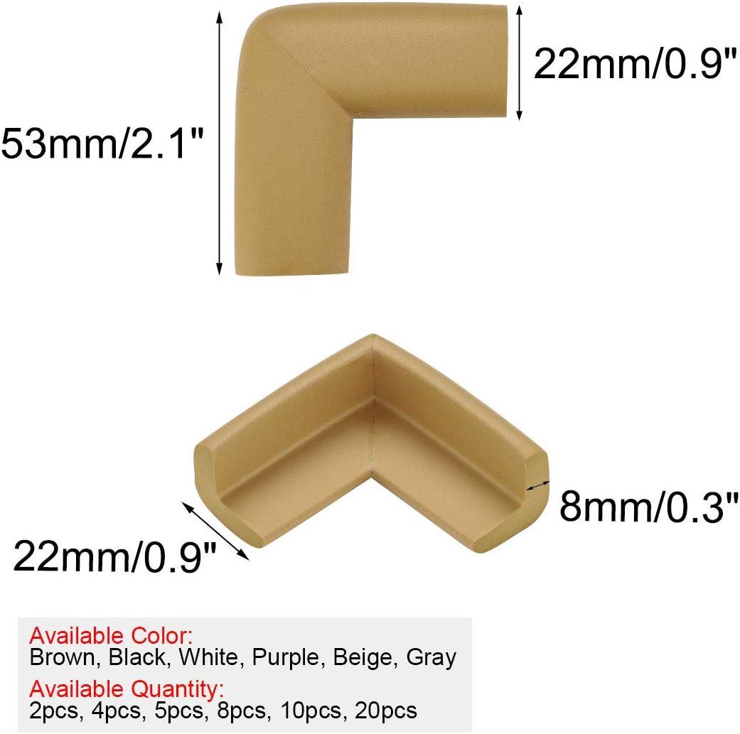 uxcell 20 Pack Foam Furniture Table Desks Edge Cover Pads Protectors Corner Cushions Bumper Guards Black