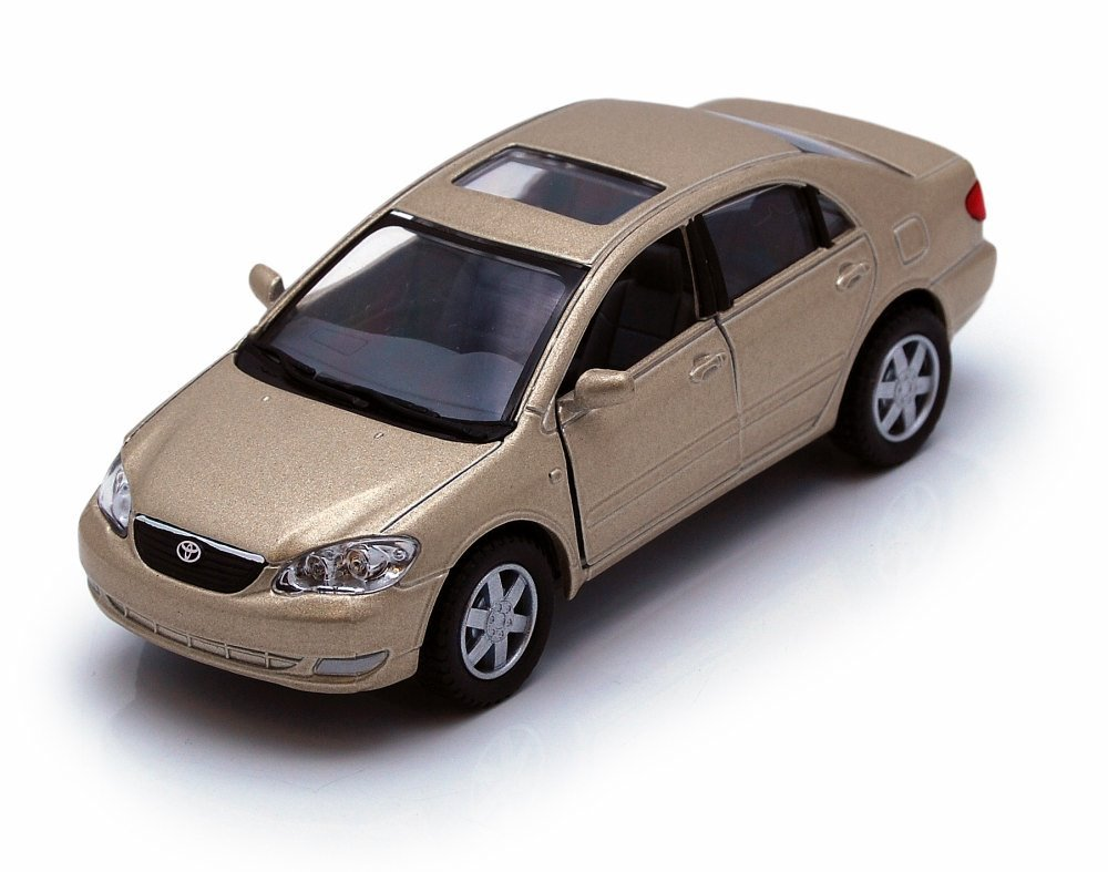 Toyota Corolla Champagne Kinsmart 5099D 1 36 scale Diecast Model Toy Car