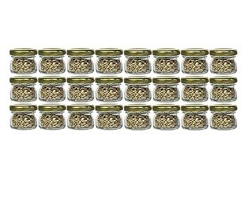 24 Mini Sturzglaser 53ml Marmeladenglaser Einmachglaser