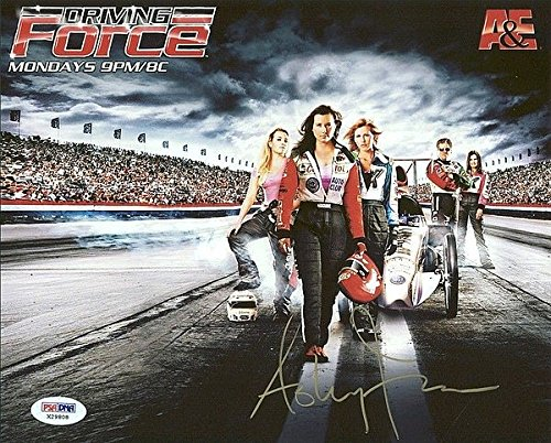 Ashley Force NHRA Drag Racing Signed 8 x 10 Photograph - PSA/DNA Authenticated