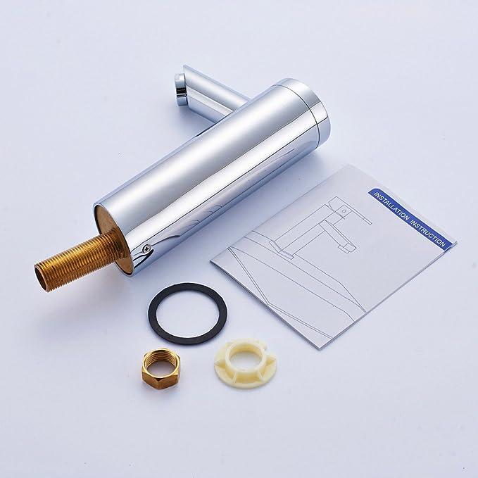 Pumpink Grifo de lavabo de ahorro de agua Diseño de tecnología creativa moderna Chrome Cast Energía de la batería Sensor de infrarrojos automático Grifo de ...