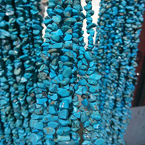 (daisy3010 Necklace for Women - 200pcs 5 8mm Bursts Turquoises Chip Beads for DIY Jewelry Making Nartural Freeform Shape Crackle Turquoises Chips Howlite Gravel)