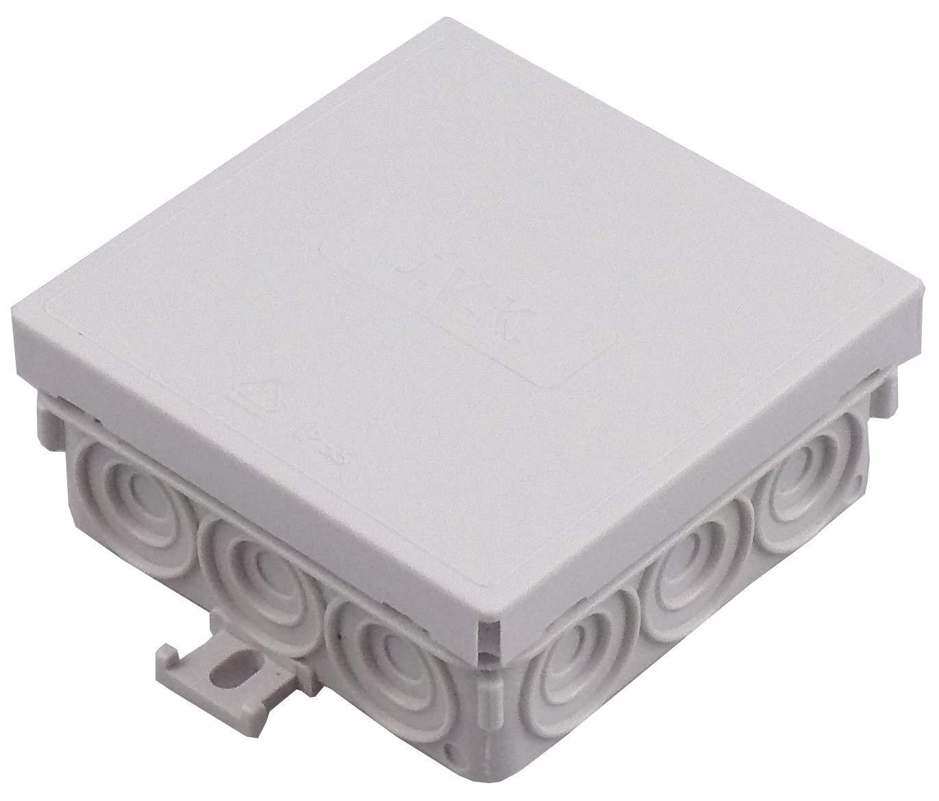 5x Aufputz Abzweigdose Verteilerdose Verteilerkasten Wasserdicht Feuchtraum 85x42 IP55 grau