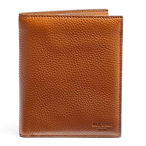 Jack Spade Pebble Leather Bifold Travel Wallet, Tan by Jack Spade