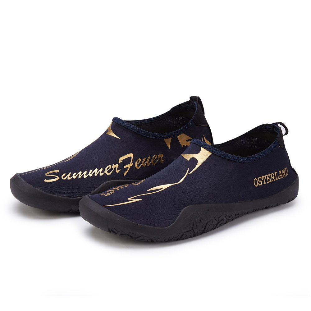 OSTERLAND Men Women Aqua Water Barefoot Swim Shoes B079HK1W5S EUR 45 / 11.5 US Men|Navy