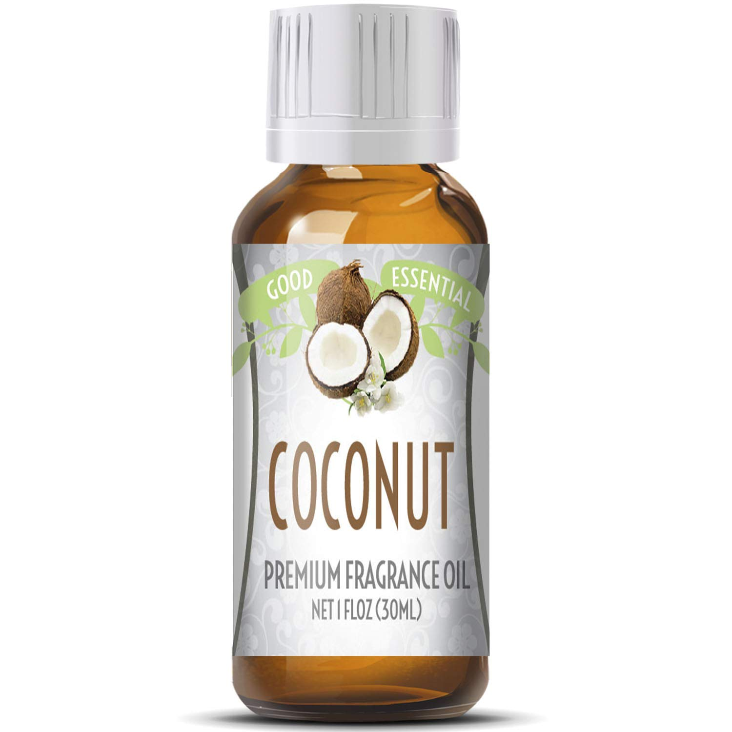 Coconut Scented Oil by Good Essential (Huge 1oz Bottle - Premium Grade Fragrance Oil) - Perfect for Aromatherapy, Soaps, Candles, Slime, Lotions, and More!