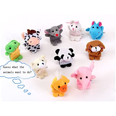10pcs Animal Finger Puppet,Hemlock Child Baby Early Education Toys Finger Dolls (Colorfol)