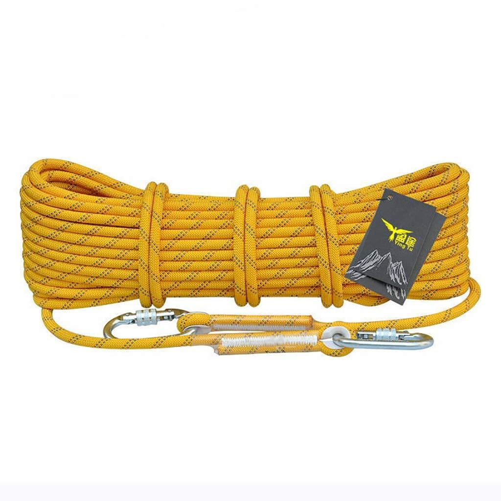 TLMYDD クライミングロープ耐摩耗性ナイロンエスケープロープアウトドアクライミングロープLifeline8mm / 10.5mm / 12mm ロープ (色 : 12MM, サイズ さいず : 98.4FT) 98.4FT 12MM B07RM657CR