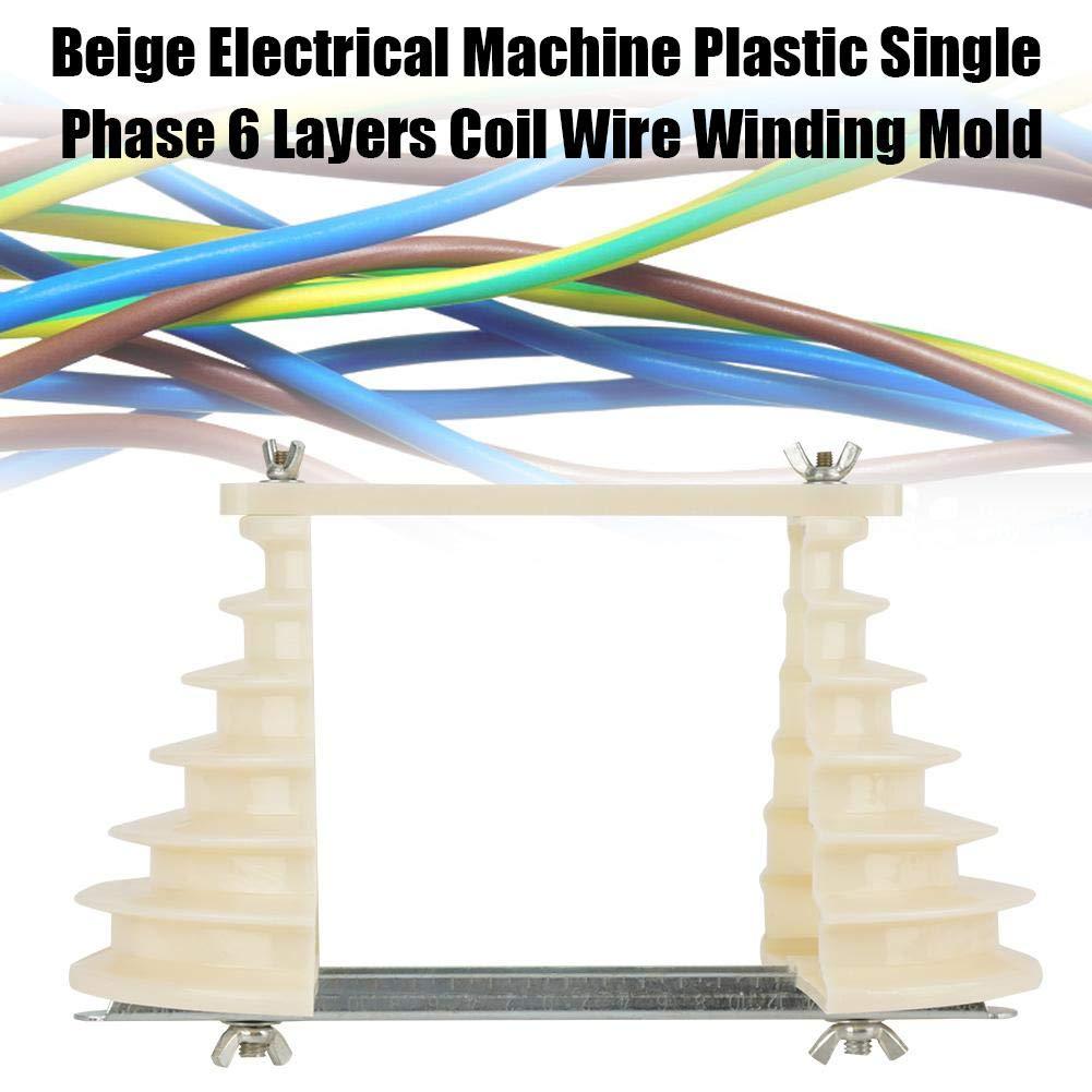 Bobina de alambre bobinado del molde titular, máquina eléctrica de plástico monofásico 6 capas Bobina de alambre bobina molde beige: Amazon.es: Bricolaje y ...