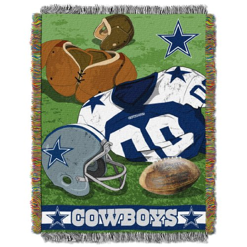 The Northwest Company Officially Licensed NFL Dallas Cowboys Vintage Woven Tapestry Throw Blanket, 48