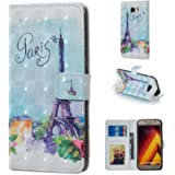 Glitter Wallet Case for Samsung Galaxy A5 2017 and Screen Protector,QFFUN Bling Design [Tower] Magnetic Stand Leather…