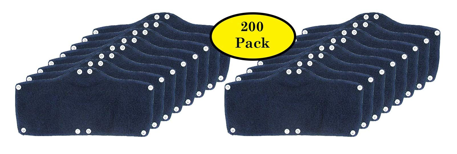 200 Pack Best Hard Hat Sweatband Navy Blue Washable Snap On Sweat Band Liner Safety Accessories