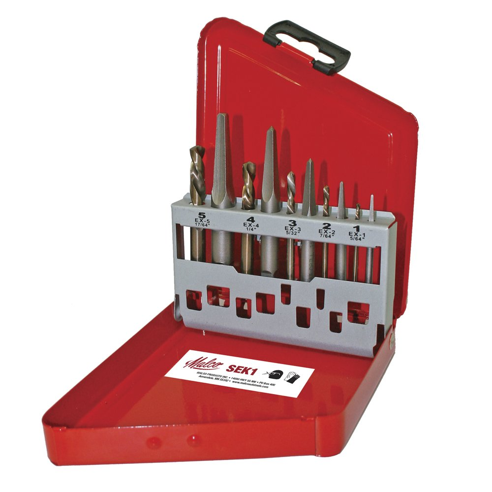 Malco SEK1 USA Made 10 Piece Screw Extractor Kit