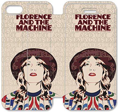 Flip étui en cuir PU Stand pour Coque iPhone 5 5S, bricolage 5 5S étui de téléphone cellulaire Florence et l'étui en cuir machine X5U6DX Coque iPhone personnalisée active