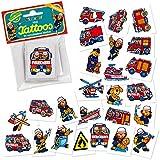Lutz Mauder 47301 Lot de 24 mini tattoos temporaires pour enfants Motif pompiers
