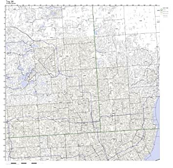 Troy Zip Code Map.Amazon Com Troy Mi Zip Code Map Laminated Home Kitchen