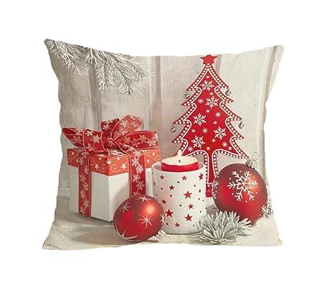 Pausseo - Fundas de almohada de Navidad, suave, cuadrado ...