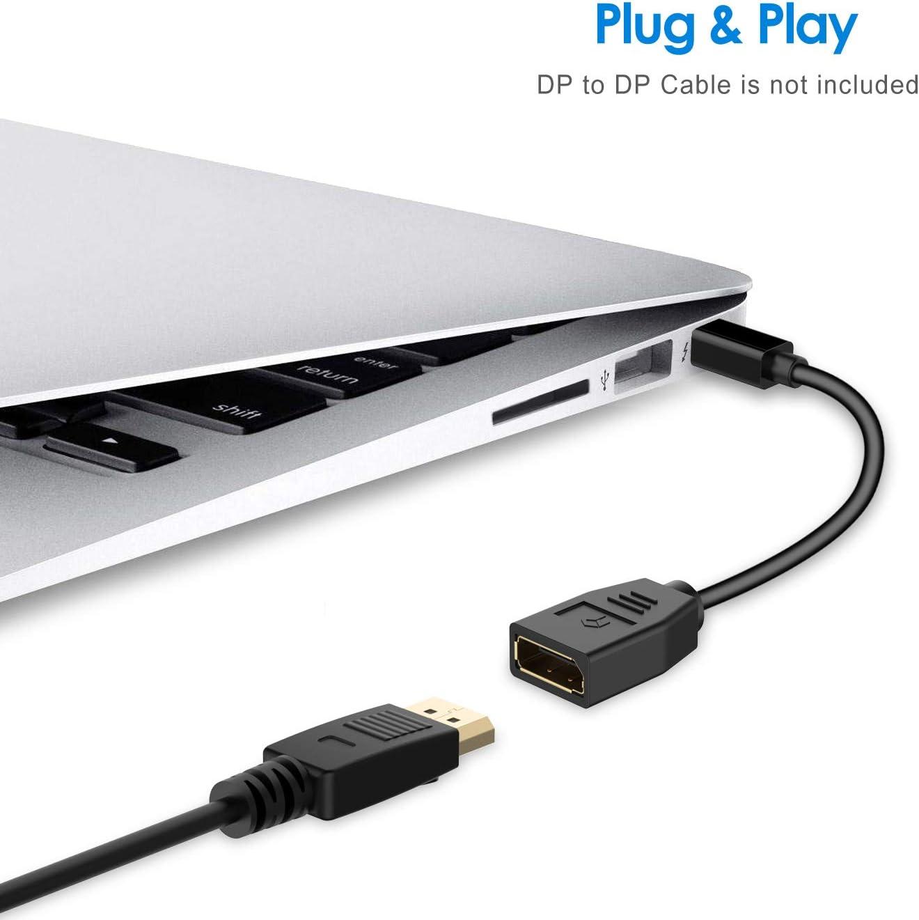 4K Resolution Converter Black Rankie Mini DisplayPort to DisplayPort Adapter