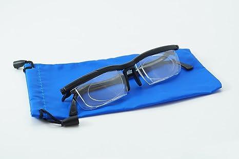 6d35f4adee Lunettes de vue pour lire de loin, verres réglables, dioptrie réglable par  roulette