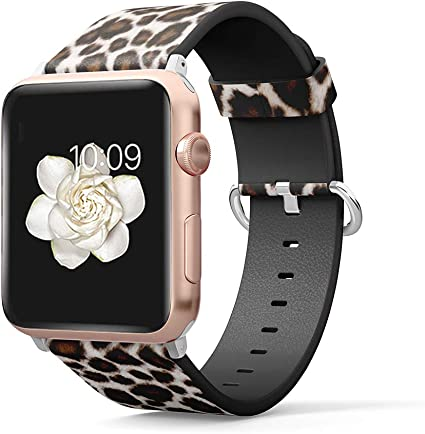 Amazon.com: PU Leather Band Compatible for iWatch 38mm 40mm ...