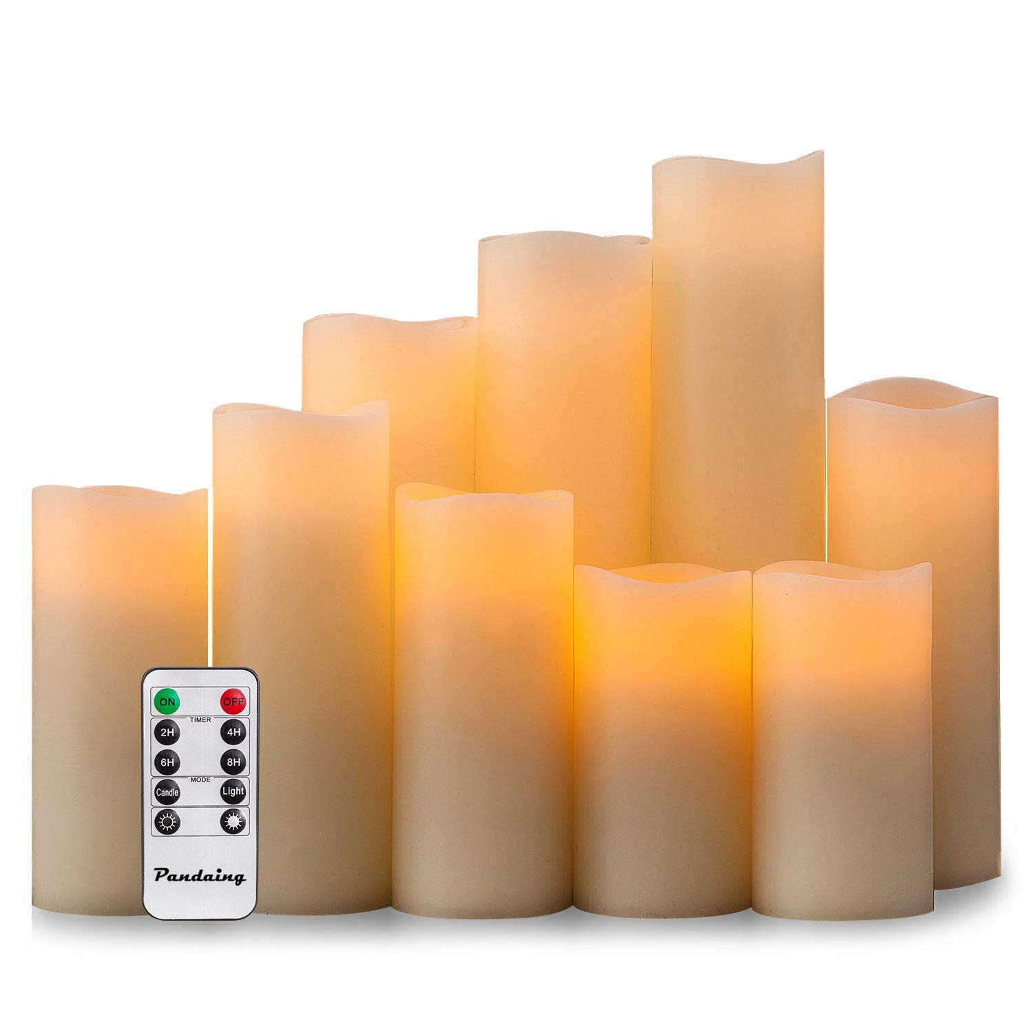 Bright Night Light Led Timing Simulation Candle Remote Control Bedroom Color Changing Wedding Supplies Party Electronic Be Novel In Design Candles