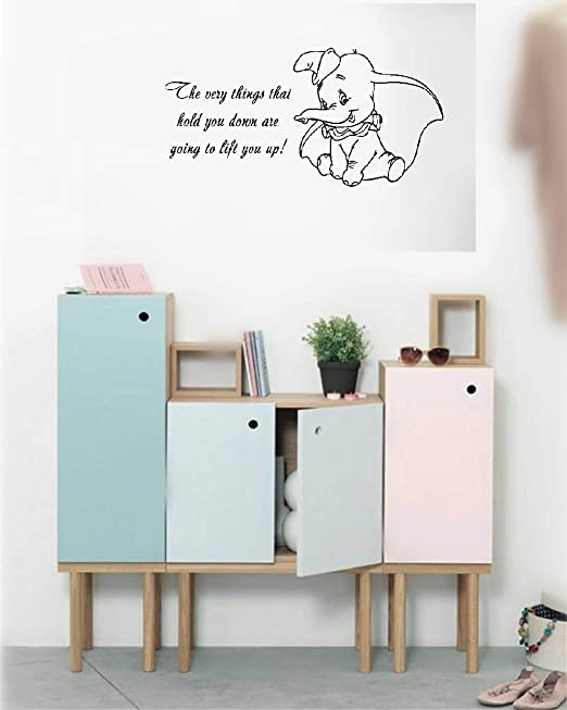 Amazon Com Wall Sticker Family Diy Decor Art Stickers Home Decor Wall Art Quotes Dumbo Quote The Very Things That Hold You Down Are Going To Lift You Up For Nursery Kids Room,Pinterest Home Decorations