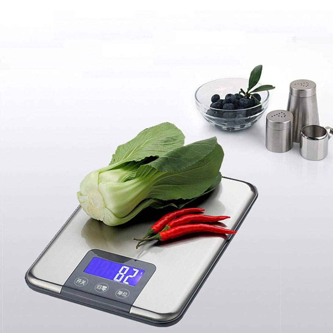 Digital Scale,LtrottedJ 15KG 1g Digital Kitchen Scale,Balance Slim Stainless Steel Electronic Scales