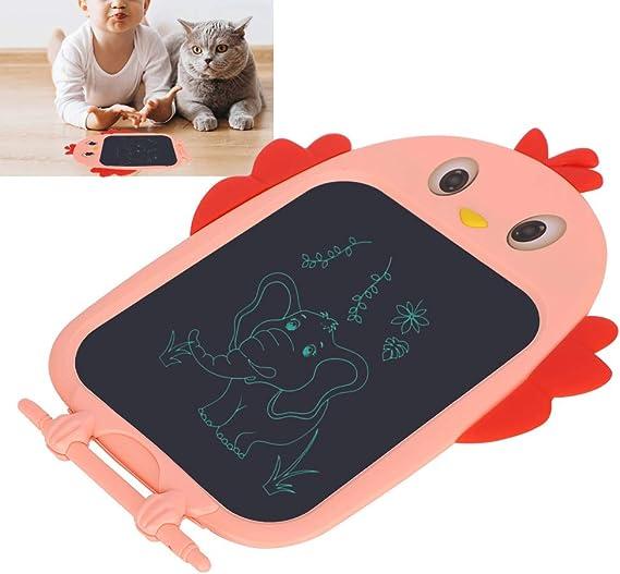 子供落書きボード、LCDライティングボード電子漫画ひよこ描画タブレット、ライティングペン付き子供手書きパッド