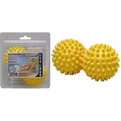 Best Sport Lot de 2 balles à picots de massage 8 cm