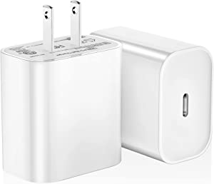USB-C Power Adapter, 20W USB-C Fast Charging Wall Charger for iPhone 12/12 mini/12 Pro/12 Pro Max, iPhone 11/11 Pro/11 Pro Max, XR/XS/X/8