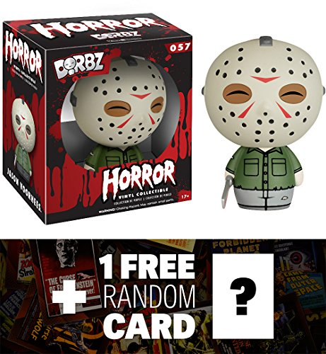 [Jason Voorhees: Funko Dorbz Horror x Friday the 13th Mini Vinyl Figure + 1 FREE Classic Horror & Sci-fi Movies Trading Card Bundle] (Sci Fi Halloween)