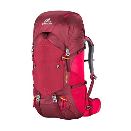 7d136957459 Gregory Mountain Products Amber 44 Women s Hiking Backpack   Backpacking,  Camping, Travel   Integrated Rain Cover, Adjustable Components, Internal  Frame ...