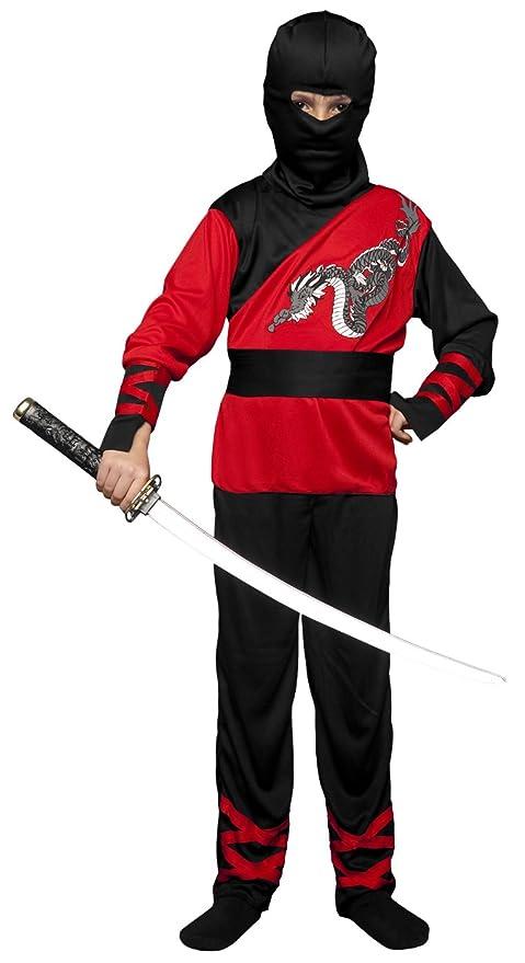 Boys Boys Disfraz de Ninja Dragon 7-9 años: Amazon.es ...