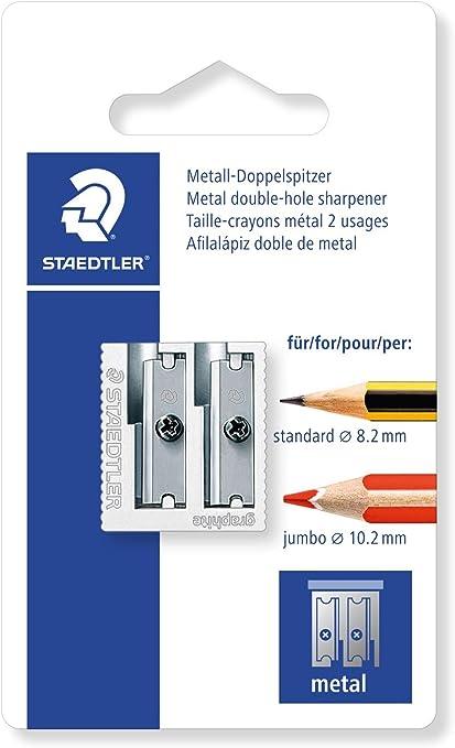 Staedtler 510 20 BKDST Afilalápiz Doble de Acero Inoxidable, Blíster con 1 Sacapuntas de Metal: Amazon.es: Oficina y papelería