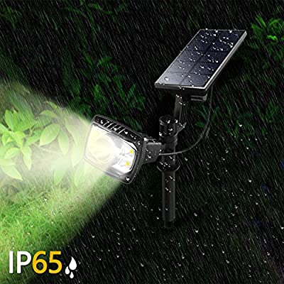 Liveditor Solar Spotlig Outdoor Waterproof Solar spot Combo Light Wireless Landscape Security Wall Lights Solar Lawn Lamps with Auto On/Off for for Patio Yard Garden Driveway Pool Wall (1 Pack) : Garden & Outdoor