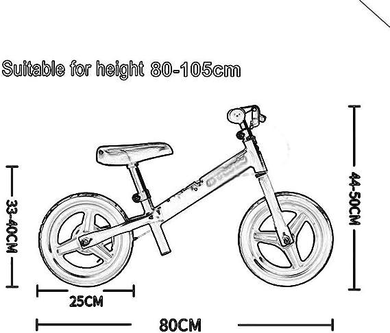 Bicicleta de Equilibrio para niños con Asiento y Mango Ajustables ...